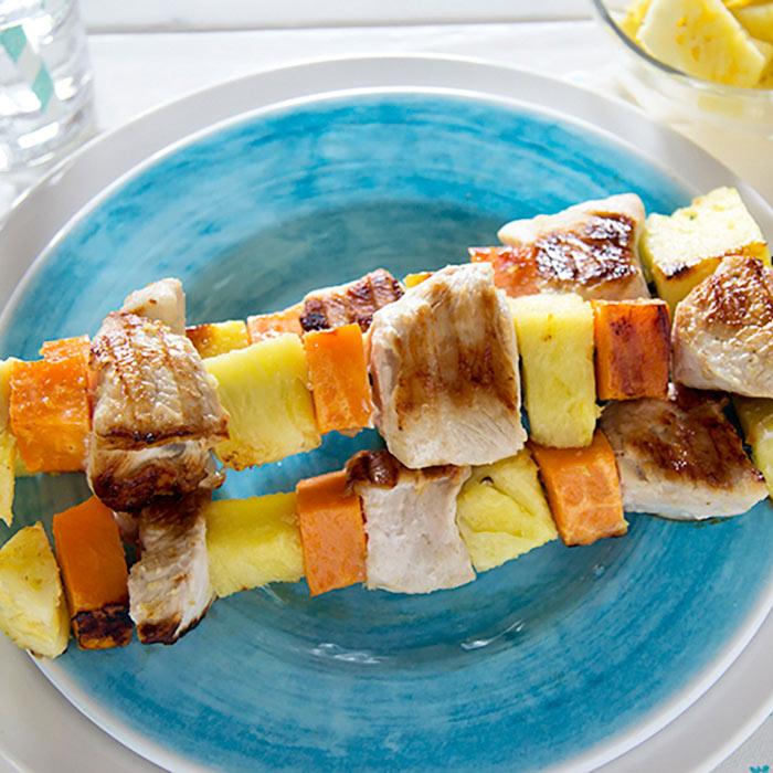 Pineapple Turkey Kebabs