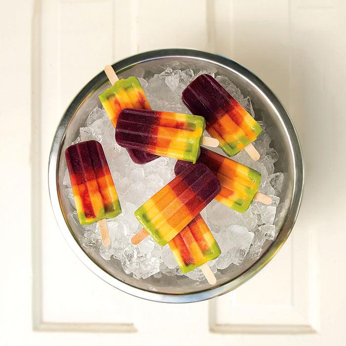Rainbow Superfruit Popsicles