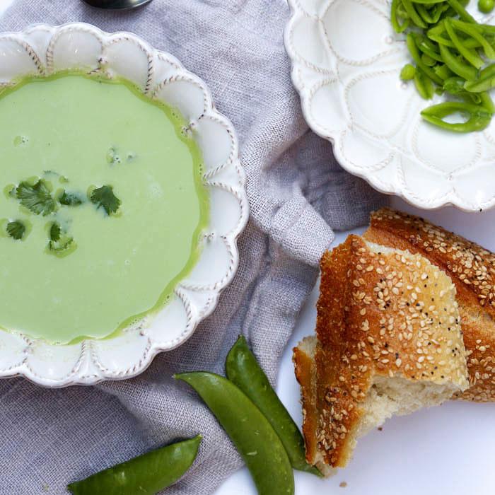 Raw Sugar Snap Pea Soup