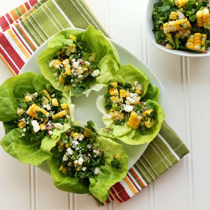Summer Corn and Herb Salad with Feta