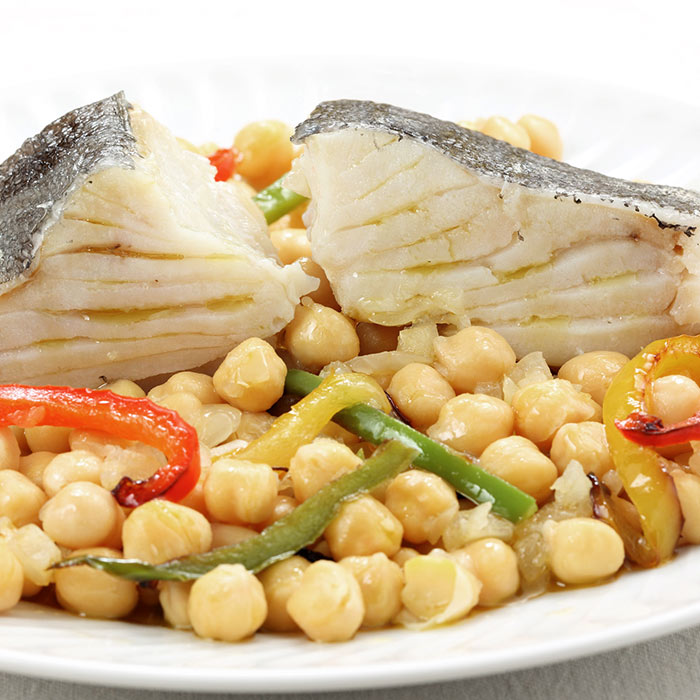 Red Snapper Over Crisp Chickpeas with Sunflower Seed Chermoula
