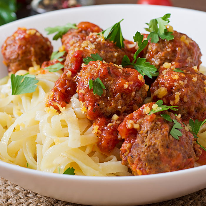 Carrot and Beef Meatballs with Marinara