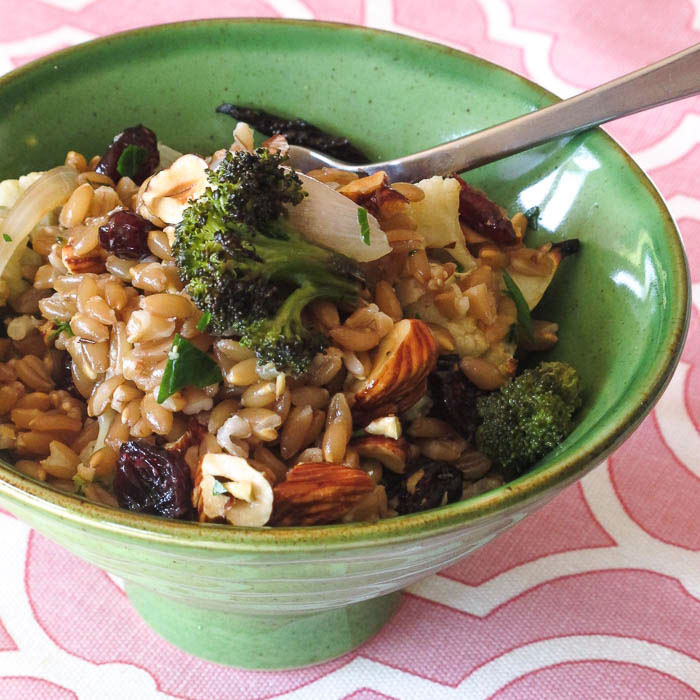 Roasted Vegetable Farro Salad