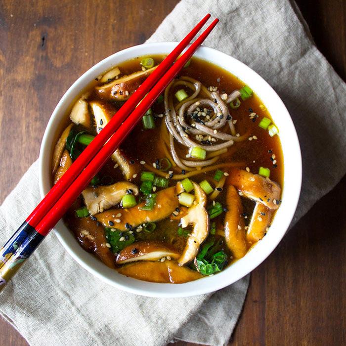 Vegan Kale and Mushroom Soup