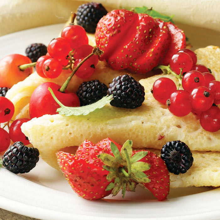 """Thin"" Cheese Crepes"
