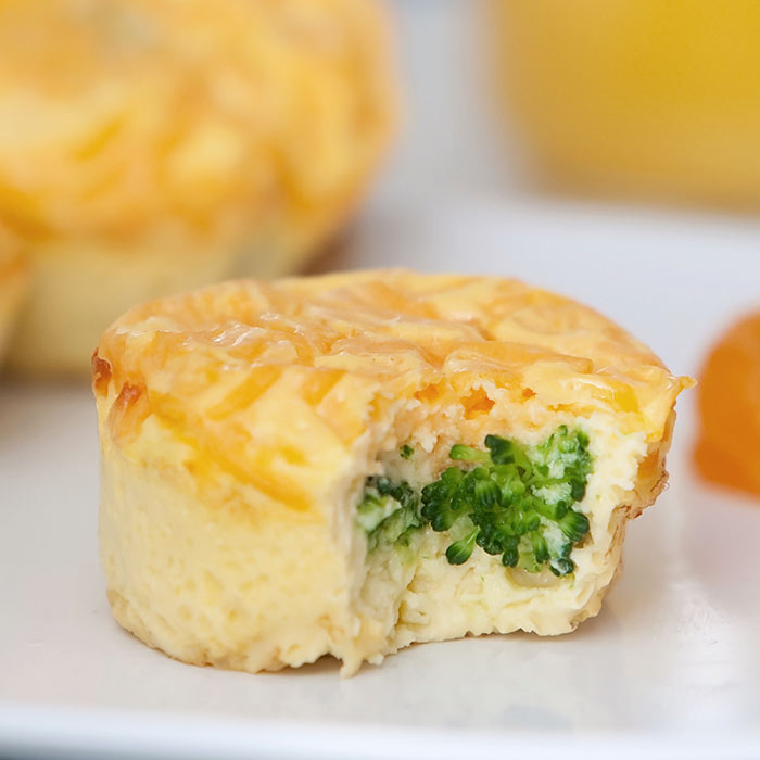 Broccoli, Goat Cheese, and Lemon Egg Muffins