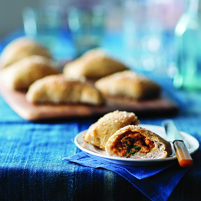 Turkey Sausage-Stuffed Pizza Pockets