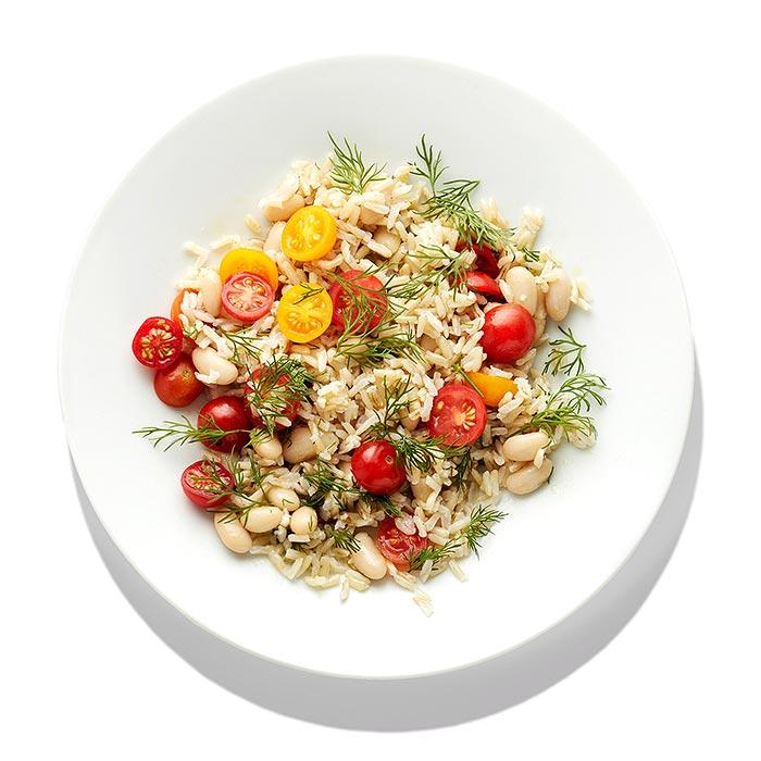 White Bean-and-Tomato Rice Salad