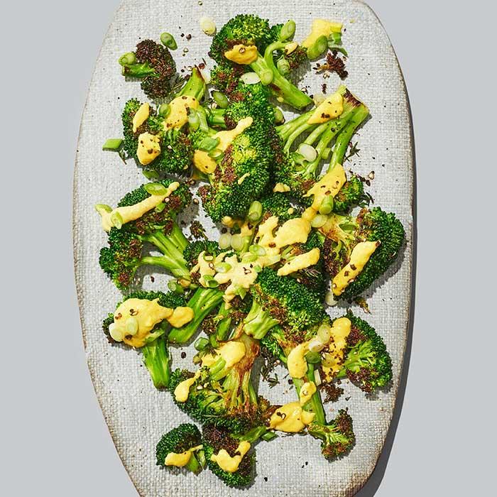 Broccoli with Cashew Cream Cheese Sauce