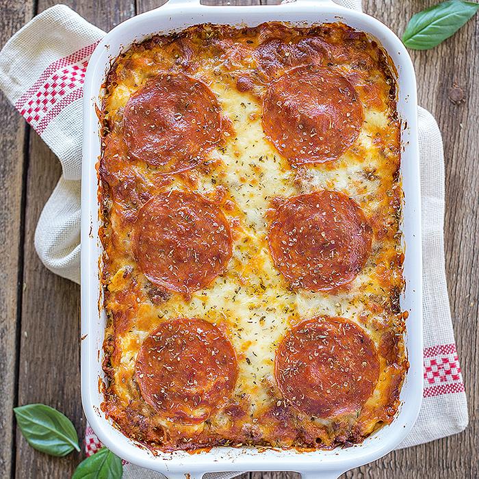 Meat Lovers Spaghetti Squash Lasagna