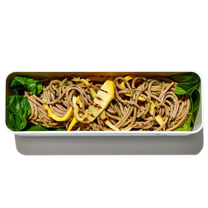 Soba Noodles with Pesto