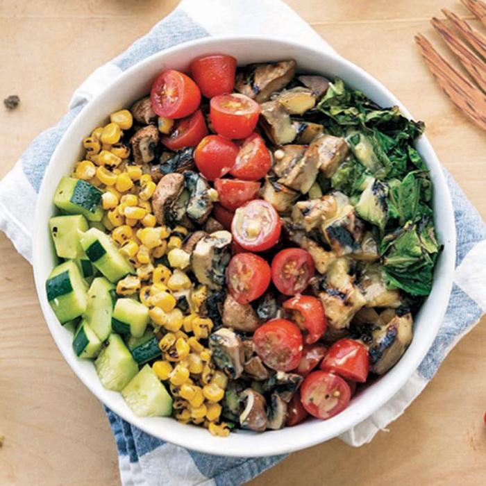Grilled Romaine Chop Salad