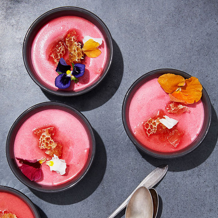 Beet-Yogurt Panna Cotta