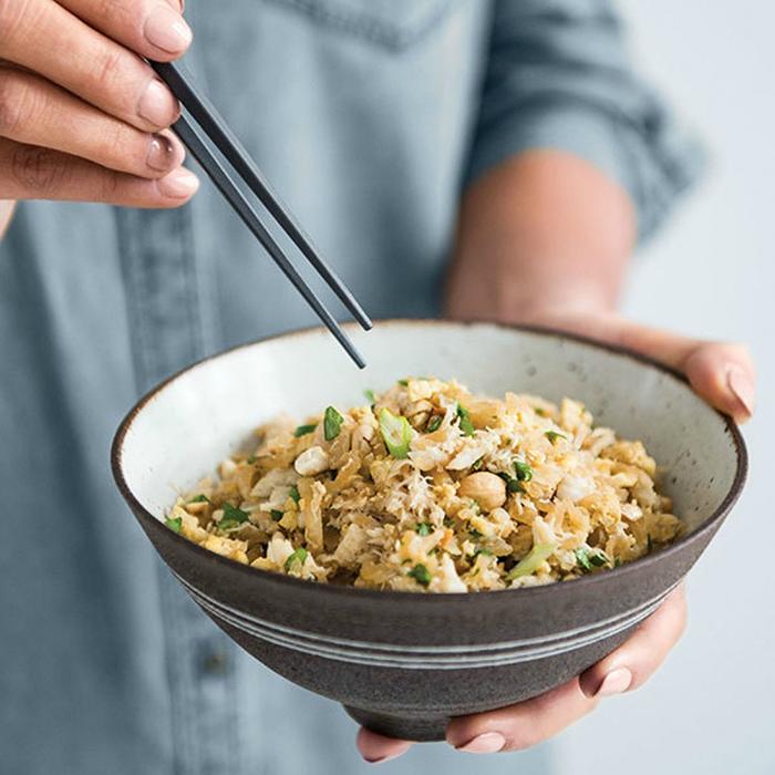 Ginger-Crab Fried Daikon Rice