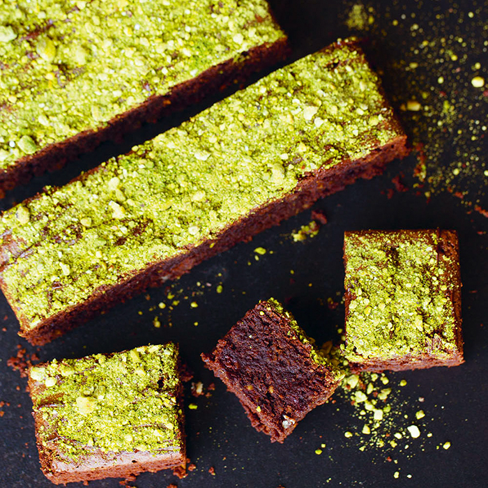Matcha Pistachio Chocolate Brownie