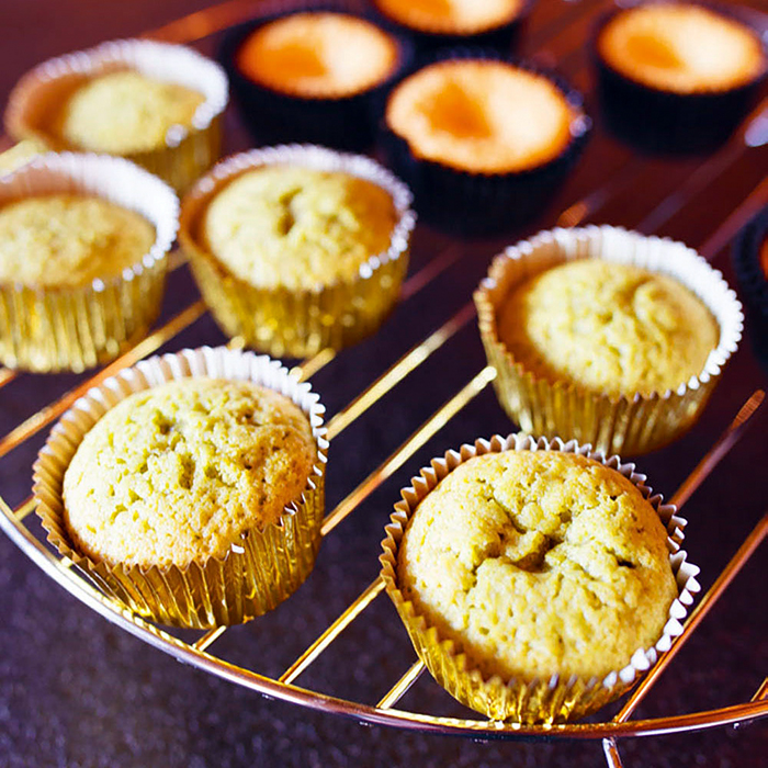 Matcha Vanilla Cupcakes