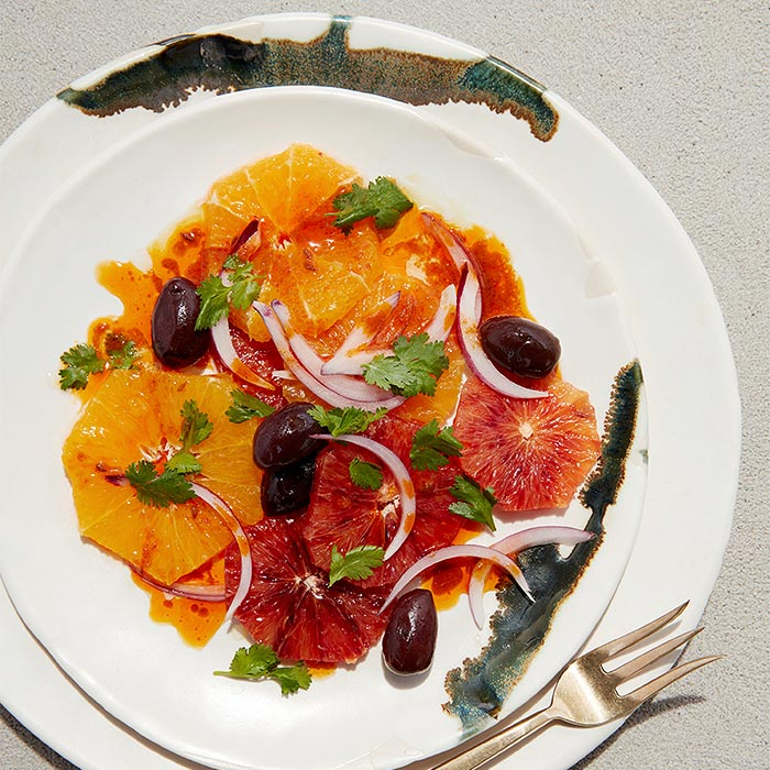 Orange Olive Salad with Harissa Vinaigrette