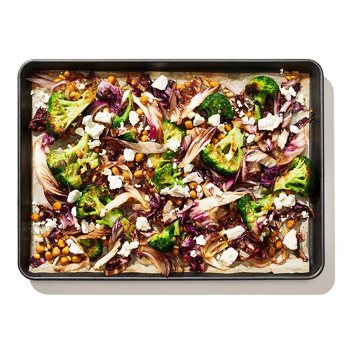 Roasted Broccoli, Radicchio, and Chickpeas