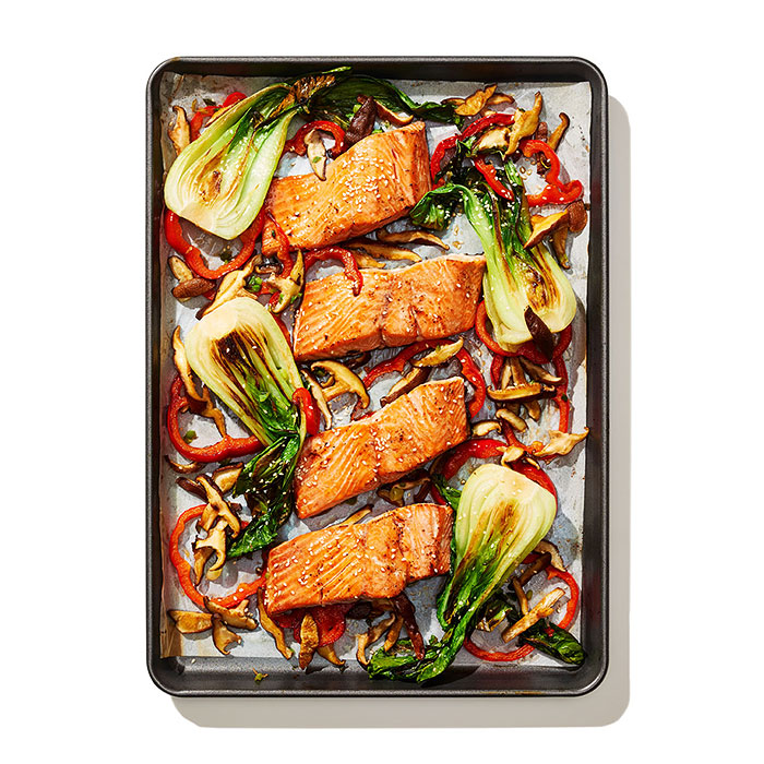 Miso-Glazed Salmon and Bok Choy