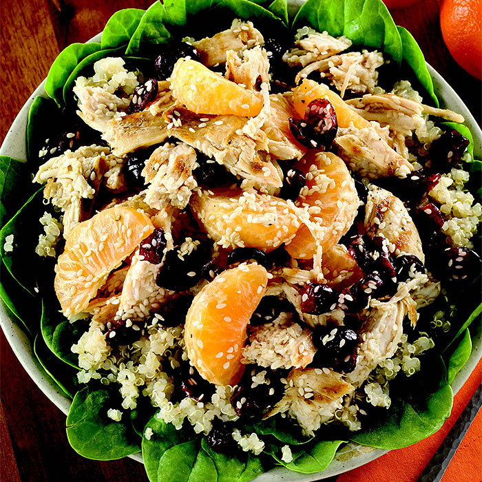 Oriental Chicken Salad with Mandarin Dressing