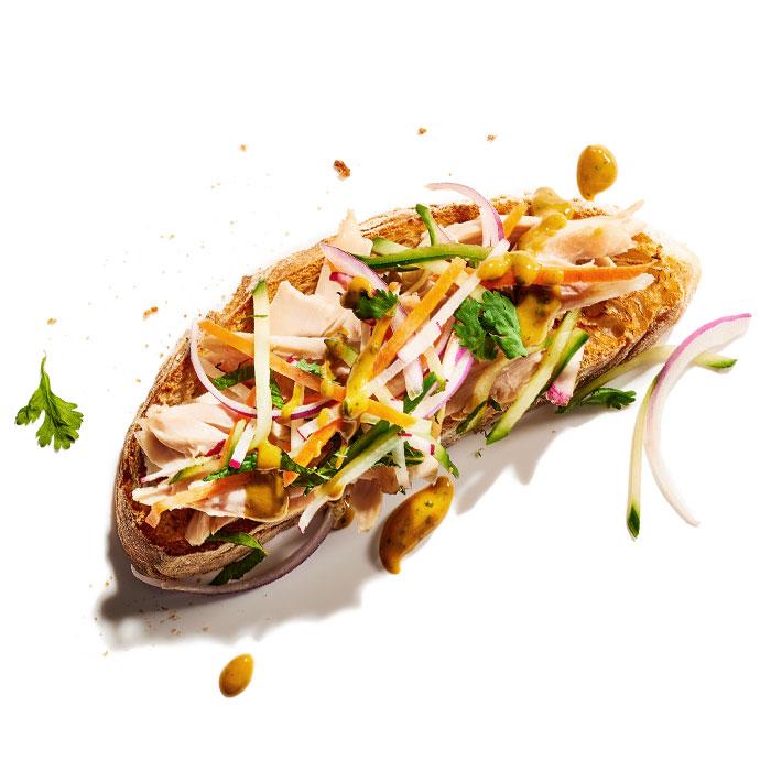Chicken Pad Thai Sandwich
