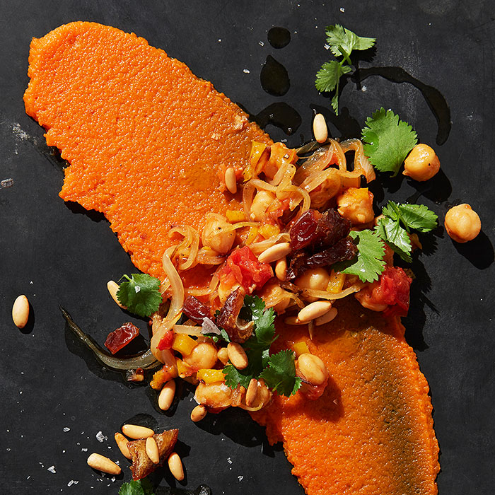Moroccan Carrot Puree With Chickpeas