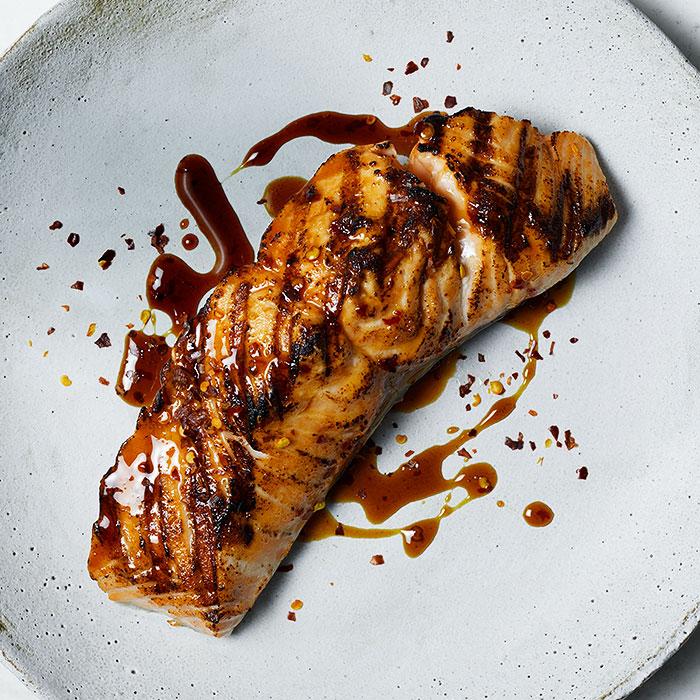 Grilled Spicy Teriyaki Salmon