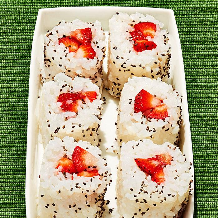 Strawberry Shortcake Rice Bites