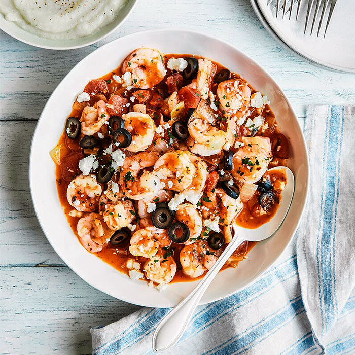 Savory Shrimp with Tomatoes and Feta