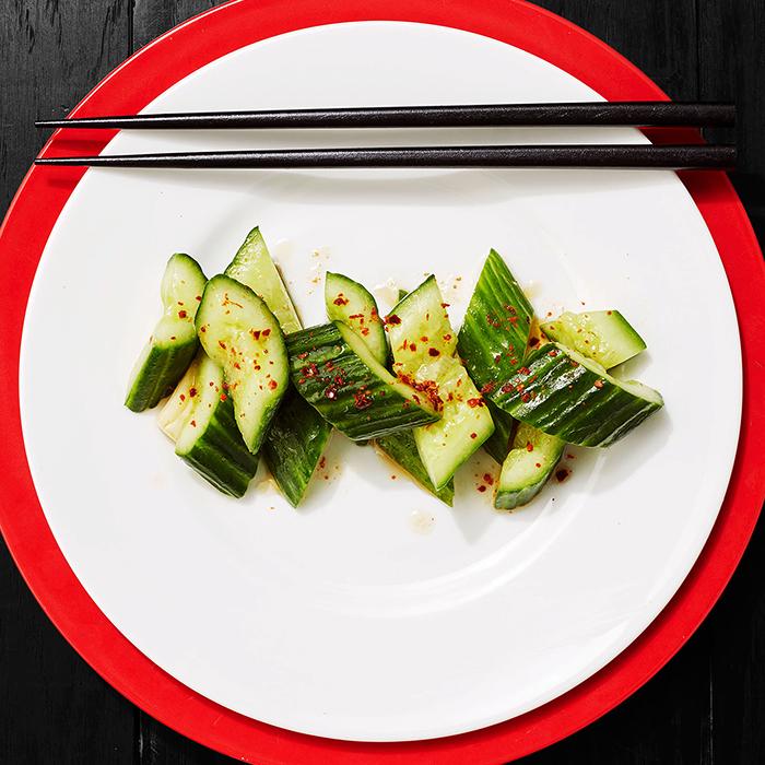 Smashed-Cucumber Salad