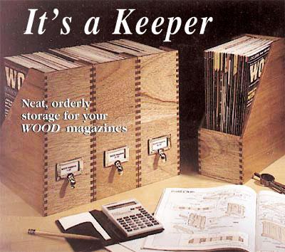 FREE magazine file boxes plan