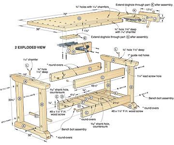 Wood Workbench Plans