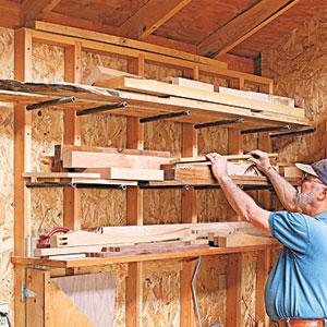 lumber storage rack dale built this wood storage system that keeps