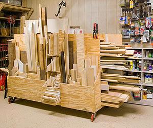 Make A Rolling Lumber Cart