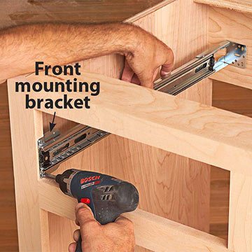 how to install drawers in kitchen cabinets how to install bearing drawer slides now for the cabinet 17042