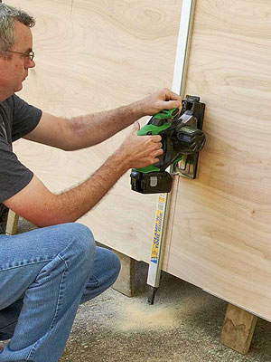 How to cut sheet goods in tight quarters: Poor man's panel saw